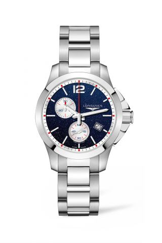 Longines Conquest Chronograph by Mikaela Shiffrin Watch