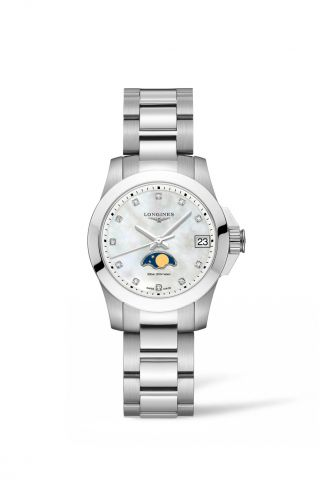 Longines Conquest Moonphase Ladies Watch