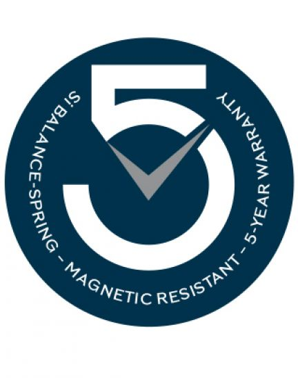 Longines extends the warranty to five years on all models using the antimagnetic silicon balance-spring
