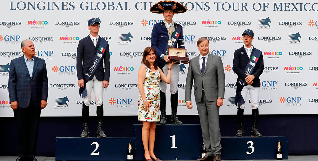 Longines Show Jumping Event: Andre Agassi attended the first leg of the 2017 Longines Global Champions Tour in Mexico City