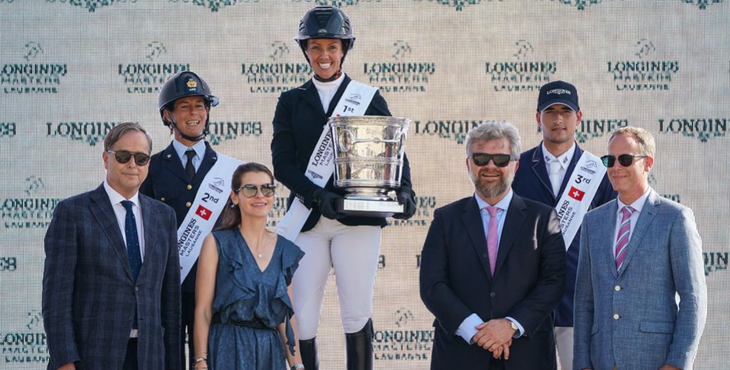 Longines Show Jumping Event: The first Swiss edition of the Longines Masters smiles upon Gudrun Patteet