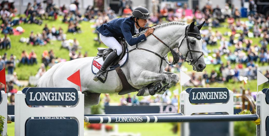 "Longines Equestrian Event: Bertram Allen (Ireland) is the winner of the ""Longines Grand Prix der Schweiz"" in St. Gallen"