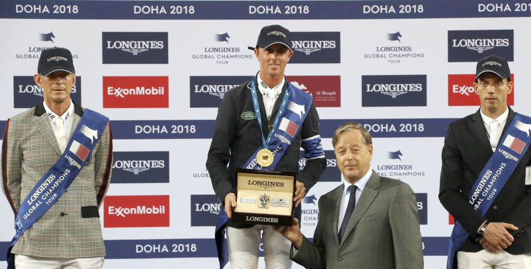 Longines Show Jumping Event: Ben Maher claimed stunning victory at the 2018 Longines Global Champions Tour of Doha