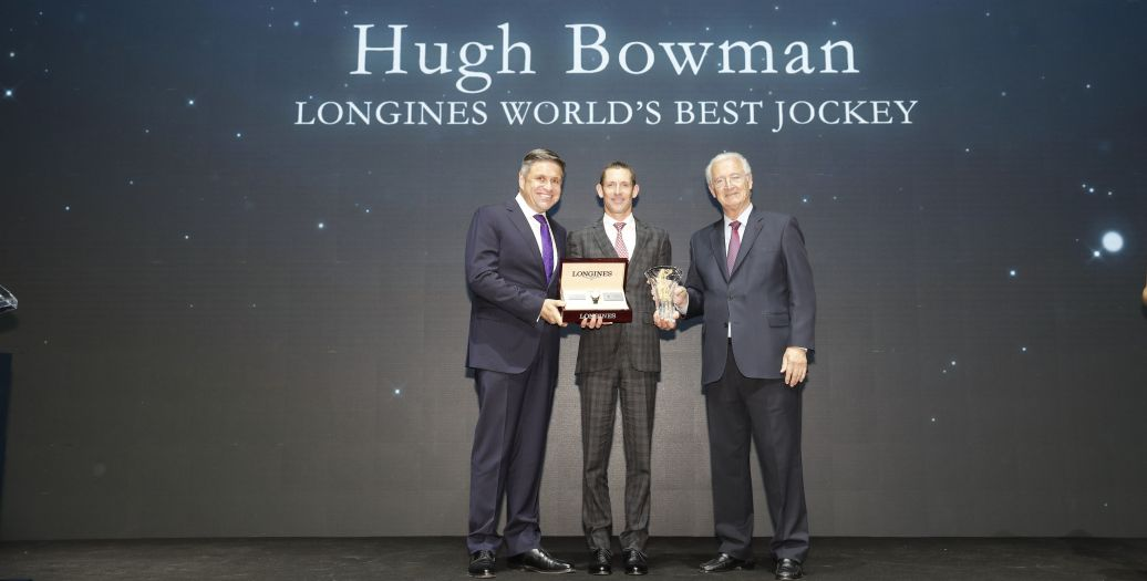 Longines Flat Racing Event: Australian Hugh Bowman receives the 2017 Longines World's Best Jockey Award in Hong Kong
