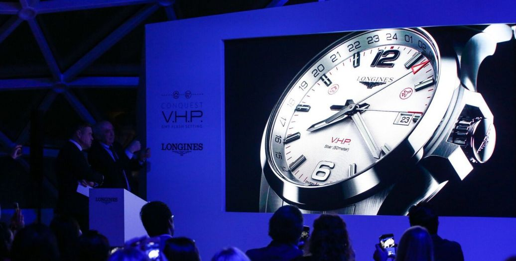 Longines Corporate Event: Longines presents the new Conquest V.H.P. GMT Flash Setting:  the watch made for frequent travelers