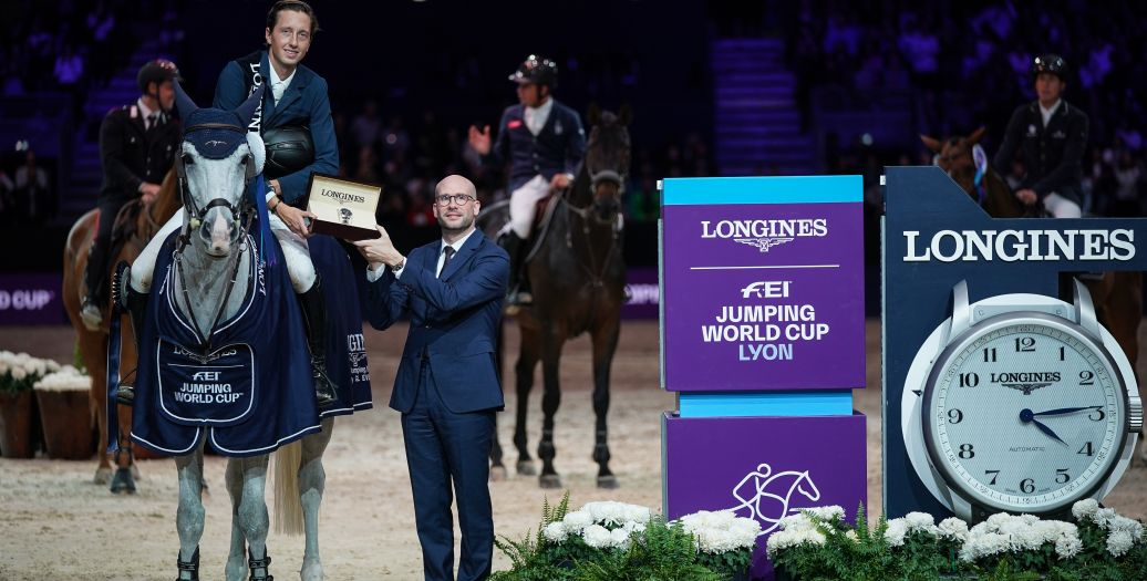 Longines Show Jumping Event: Martin Fuchs and Clooney 51 captured the Longines FEI Jumping World Cup at Longines Equita Lyon, Concours Hippique International
