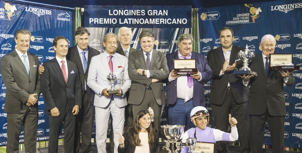 Longines Flat Racing Event: Roman Rosso and Wilson Moreyra claimed victory at the 2018 Longines Gran Premio Latinoamericano
