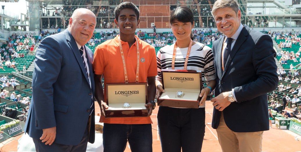 "Longines Tennis Event: Anri Nagata and Abhimanyu Vannemreddy are the winners of ""Rendez-vous à Roland-Garros in partnership with Longines"""
