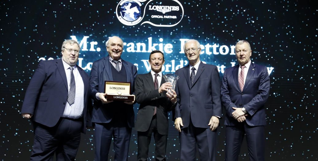 Longines Flat Racing Event: Frankie Dettori Celebrated as the 2019 Longines World's Best Jockey