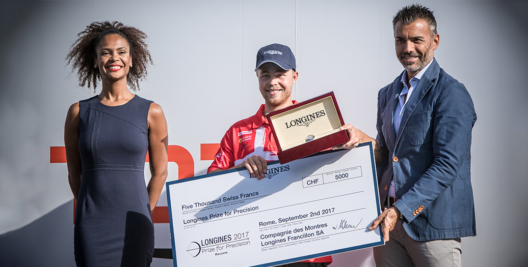 Longines Archery Event: Stephan Hansen and Sarah Sonnichsen claim the Longines Prize for Precision at the Archery World Cup Final in Rome
