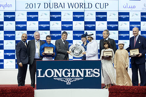 Arrogate, the 2016 Longines World's Best Racehorse, won the Dubai World Cup