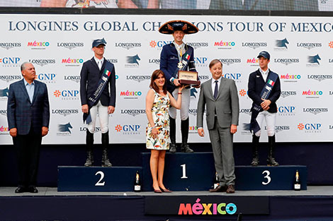 Andre Agassi attended the first leg of the 2017 Longines Global Champions Tour in Mexico City