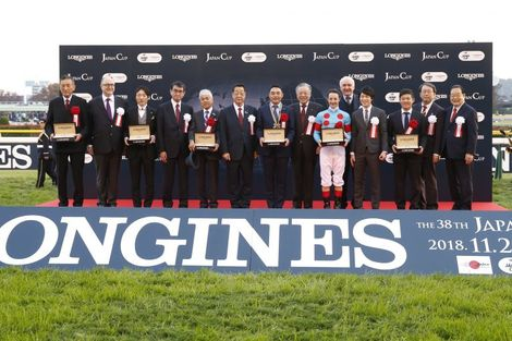 Christophe Lemaire riding Almond Eye galloped to victory in record time at the 38th edition of the Japan Cup in association with Longines