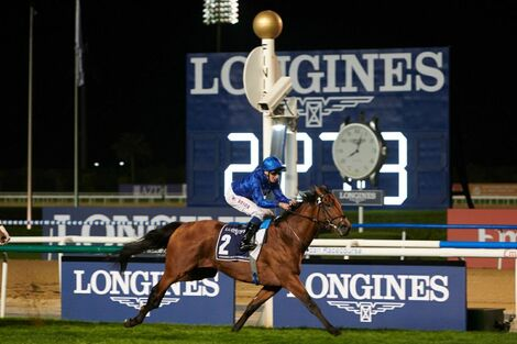 Swiss watch brand Longines honours the winners of  the Longines Dubai Sheema Classic