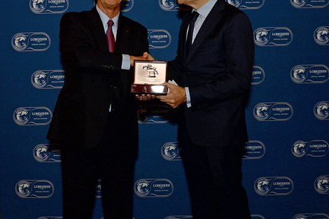Longines Flat Racing Event:  Alec Head receives the Longines and IFHA International Award of Merit 2014 (Paris, FRANCE)