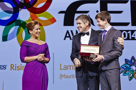 Longines Show Jumping Event: Lambert Leclezio awarded with the Longines Rising Star Award at the FEI Awards