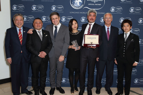 Longines Flat Racing Event: Just A Way honoured as the 2014 Longines World's Best Racehorse