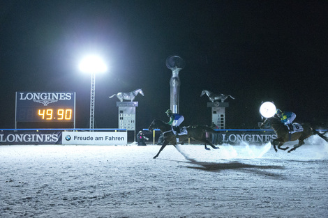Longines Flat Racing Event: First ever Night Turf St. Moritz in association with Longines: Thundering horses hooves in the moonlight