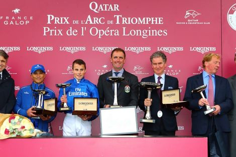 Longines times the Qatar Prix de l'Arc de Triomphe  back at ParisLongchamp
