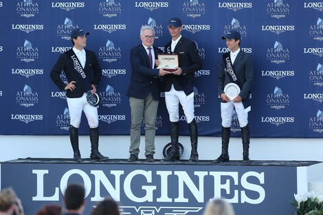 Longines Show Jumping Event: Marco Kutscher wins the Longines Grand Prix of the 2nd edition of the Longines Athina Onassis Horse Show