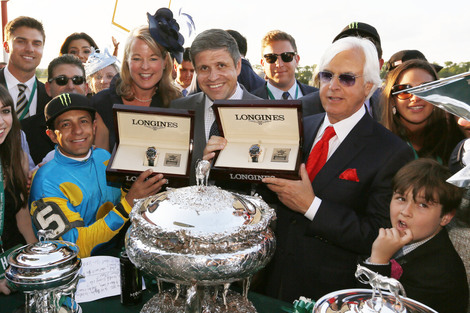 Longines Flat Racing Event: LONGINES TIMES AMERICAN PHAROAH'S TRIPLE CROWN VICTORY AT BELMONT STAKES