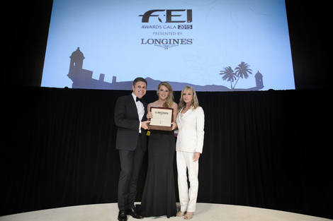 Longines Show Jumping Event: Jessica Mendoza receives the 2015 Longines Rising Star Award