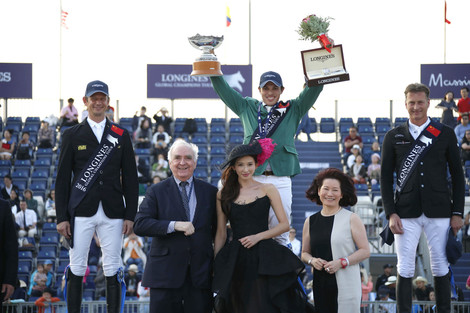 Longines Show Jumping Event: Abdullah Alsharbatly	 won the Asian leg of the Longines Global Champions Tour