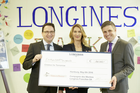 Longines Corporate Event: Children for Tomorrow welcomes Longines to the foundation's headquarters in the presence of Ambassador of Elegance Stefanie Graf