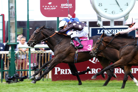 Longines Flat Racing Event: Longines timed the victory of Found and Ryan Moore at the 2016 Qatar Prix de l'Arc de Triomphe