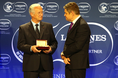 Longines Corporate Event: 2016 Longines and International Federation of Horseracing Authorities (IFHA) International Award of Merit goes to the Romanet Family, long renowned leaders in French and international world of horseracing