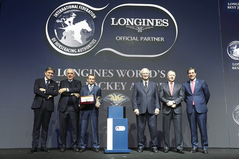 "Longines Flat Racing Event: Ryan Moore crowned ""Longines World's Best Jockey"" for the second time"