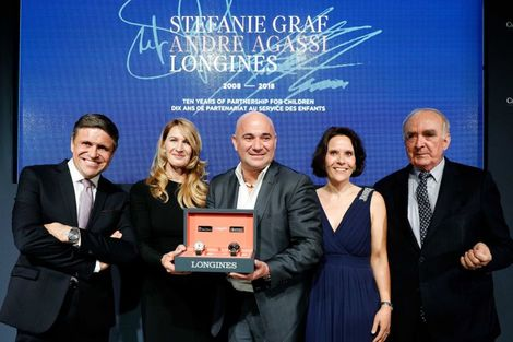Longines unveils two exclusive Conquest V.H.P. models to mark ten years of its partnership with  Stefanie Graf and Andre Agassi