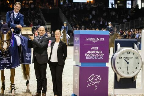 Daniel Deusser and Tobago Z claimed stunning victory at the Longines FEI Jumping World Cup™ leg in Bordeaux
