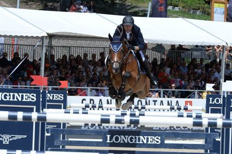 "Wouter Devos (BEL) is the winner of the ""Longines Grand Prix"" in Crans-Montana"