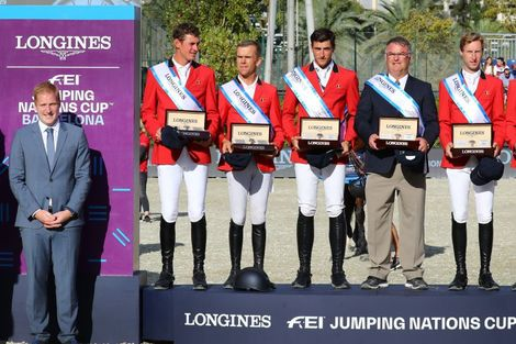 Team Belgium claimed victory at the Longines FEI Jumping Nations Cup™ Final in Barcelona