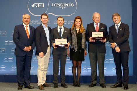 Kent Farrington and HH Azur honored as the 2017 Longines FEI World's Best Jumping Rider & Horse