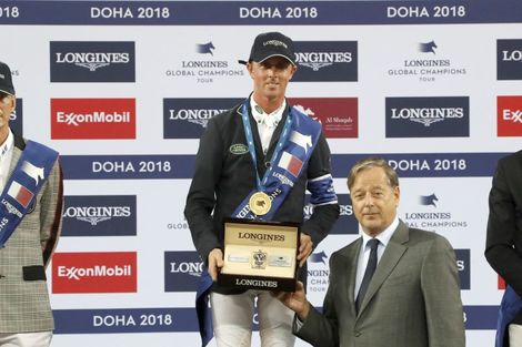 Ben Maher claimed stunning victory at the 2018 Longines Global Champions Tour of Doha