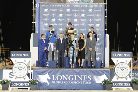 The riders of the Longines Global Champions Tour competed in the magnificent Monaco harbour