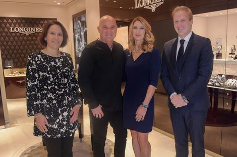 Andre Agassi and Stefanie Graf inaugurate Longines' new sales corner in Las Vegas