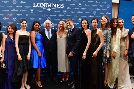 Longines officially launched the blue model of The Longines Master Collection on the eve of Prix de Diane Longines culminating day