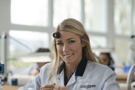 Longines receives the visit of ski champion and Ambassador of Elegance Mikaela Shiffrin at its headquarters in Saint-Imier