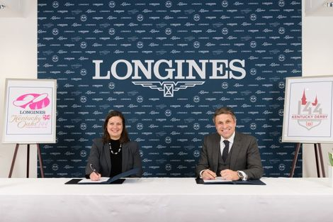 Longines renews its partnership with Churchill Downs as Official Timekeeper of the Kentucky Derby® and unveils the new Longines Kentucky Oaks logo