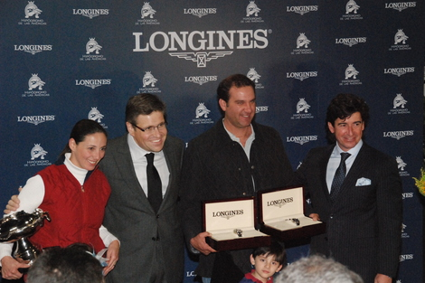 Longines Flat Racing Event: Jockey J.A. Ambrosio and Sarkozy win the Gran Premio Longines in Mexico