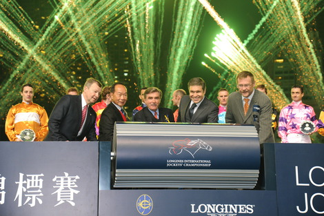Longines Flat Racing Event: Joao Moreira, winner of the Longines International Jockeys' Championship with the presence of Aaron Kwok Fu Shing