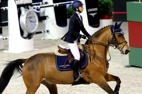 Longines Flat Racing Event: Scott Brash on Bon Ami won the Longines Speed Challenge in Paris