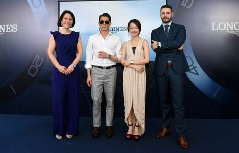 Longines Corporate Event: Longines dives into the HydroConquest universe during a special event in Singapore attended by Aaron Kwok