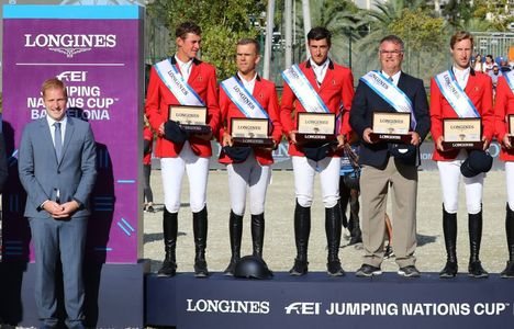 Longines Flat Racing Event: Team Belgium claimed victory at the Longines FEI Jumping Nations Cup™ Final in Barcelona