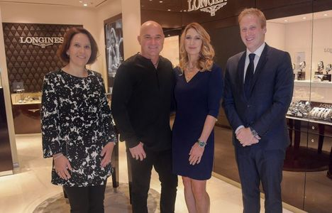 Longines Corporate Event: Andre Agassi and Stefanie Graf inaugurate Longines' new sales corner in Las Vegas