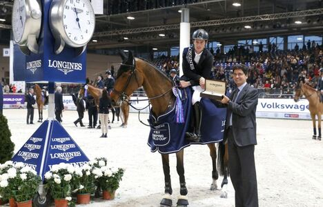 Longines Show Jumping Event: Scott Brash (GB) and Hello M'lady, convincing winners of the Longines FEI Jumping World Cup Verona