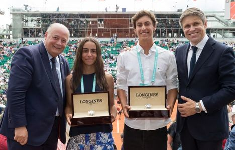 "Longines Tennis Event: Ana Paula Milelo and Mateo Reyes are the winners of the 2018 ""Roland-Garros Junior Wild-Card Competition by Longines"""